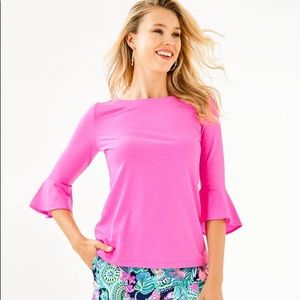 Lilly Pulitzer Fontaine Bell Sleeve Top